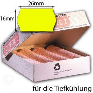 gelbe Tiefkühletiketten 26x16mm