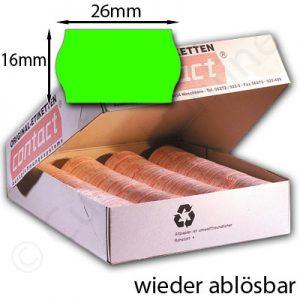 wieder ablösbare grüne Etiketten 26x16mm