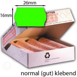 normal klebende grüne Preisetiketten 26x16mm