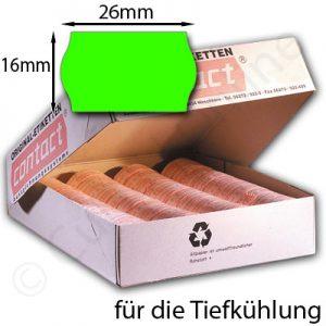 grüne Tiefkühletiketten 26x16mm