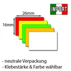 rechteckige 26x16mm Etiketten günstig