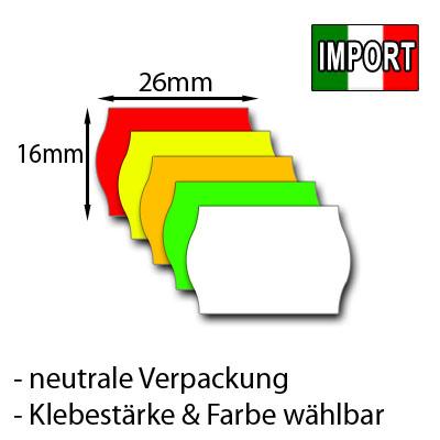 günstige Preisetiketten 26x16mm mit Wellenrand
