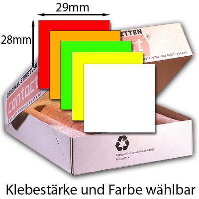 rechteckige Etiketten 29x28mm für Preisauszeichner