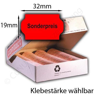 Sonderpreis Etikett 32x19mm Aufdruck Sonderpreis in der Mitte