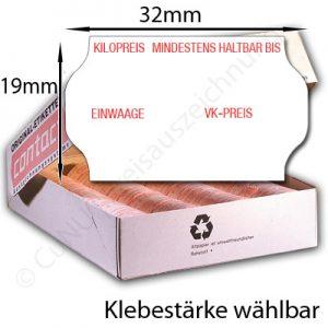 Etiketten für Kilopreis, Gewicht, 32x19
