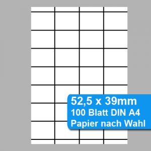 perforiertes Papier für Scannerschienen 52,5 x 39mm