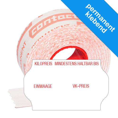 Etiketten für Kilopreis, mindestens haltbar bis, Einwaage und VK-Preis