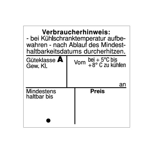 Etiketten für Eier Kartons MHD Güteklasse Gewichtsklasse Verbraucherhinweis