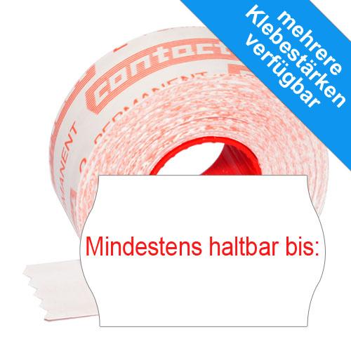 """MHD-Etiketten 26x16mm Etiketten für Mindesthaltbarkeitsdatum mit dem Aufdruck """"mindestens haltbar bis:"""""""