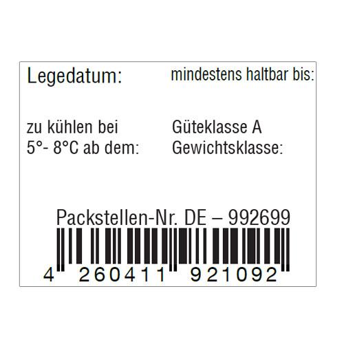 Eieretiketten mit EAN-Code Strichcode
