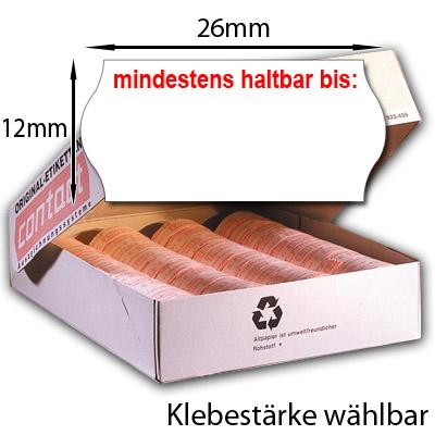 MHD Etiketten 26x12 einzeilig