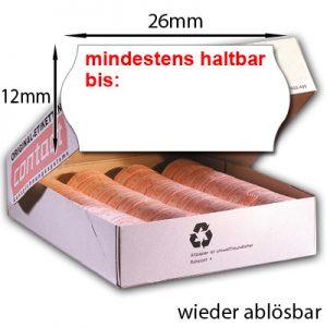 ablösbare MHD-Etiketten 26x12mm