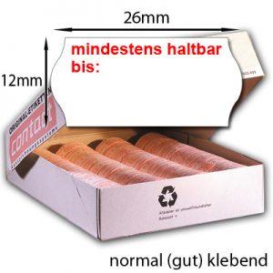 MHD Etiketten 26x12mm permanent
