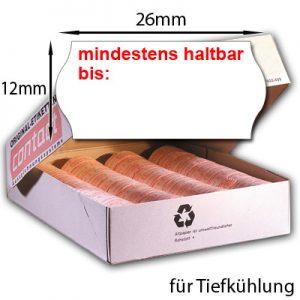 MHD Etiketten für Tiefkühlung