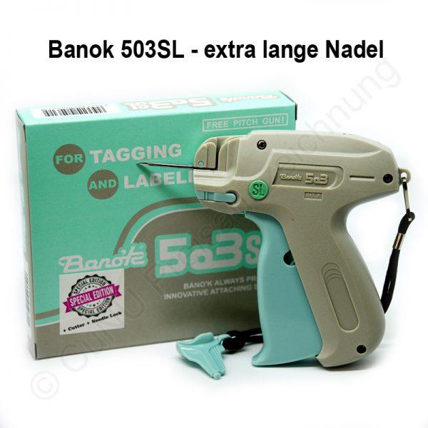 Textilpistole, Heftpistole mit langer Nadel Banok 503SL Etikettierpistole