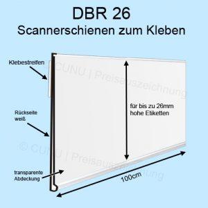 schmale weiße Preisleiste DBR26