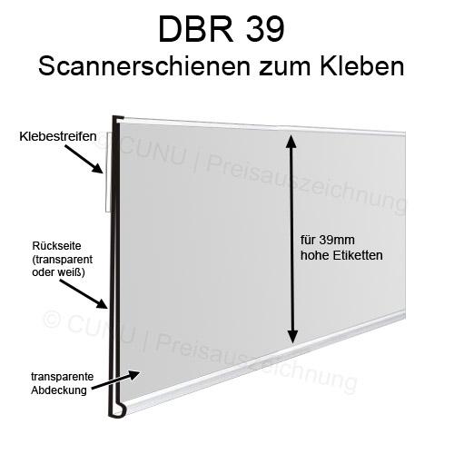 Preisschienen DBR39 Scannerschienen