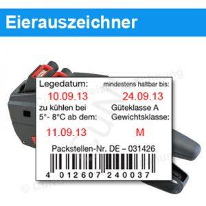Eierauszeichner - Auszeichner für Eierkarton-Etiketten