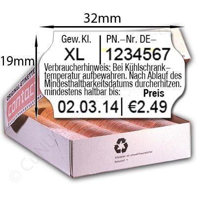 Eieretiketten, Eierschachtel-Etikett mit Abdruck