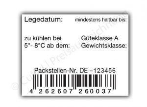 Eier-Etiketten mit EAN Code