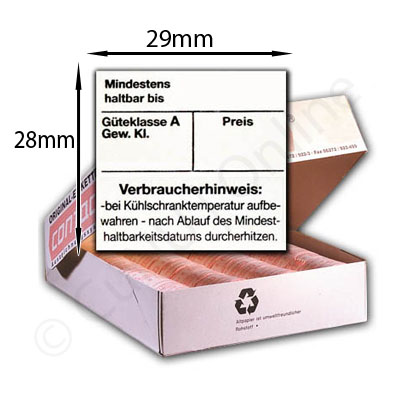Eieretiketten - Etiketten für Eier Kartons