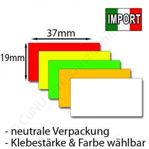 günstige Preisetiketten 37x19mm EU-Import