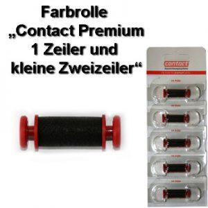 Farbrolle, Stempelkissen, Tinte für contact premium Handauszeichner bis zu 26x16mm Etikettengröße