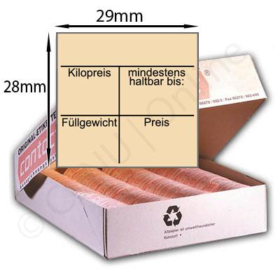 Etikett Füllgewicht mindestens haltbar bis: Kilopreis Preis