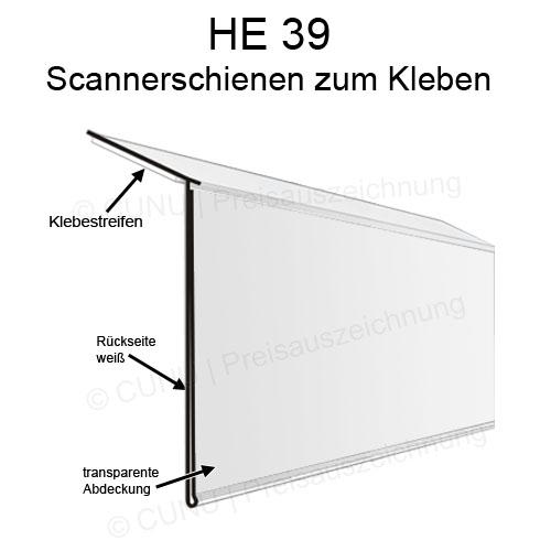 HE39 Regalleisten, Scannerschienen zum Ankleben