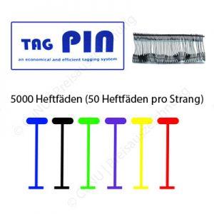 TagPin Heftfäden, transparent oder farbig, Standard und fein
