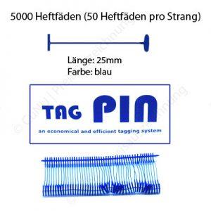 blaue Heftfäden 25mm