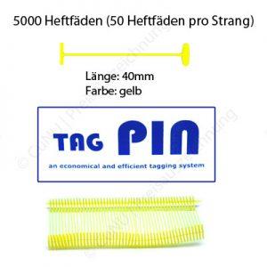 gelbe Heftfäden 40mm