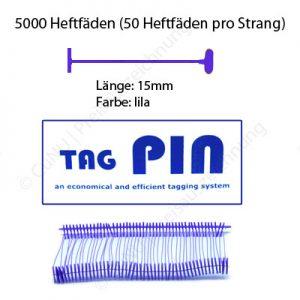 lila Heftfäden 15mm