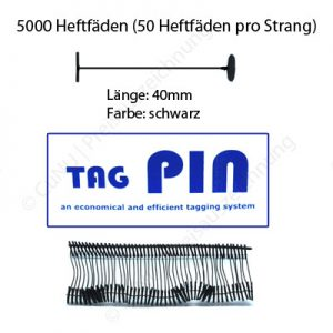 schwarze Heftfäden 40mm