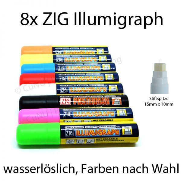 ZIG Illumigraphen Kreideschreiber 15x10mm Spitze
