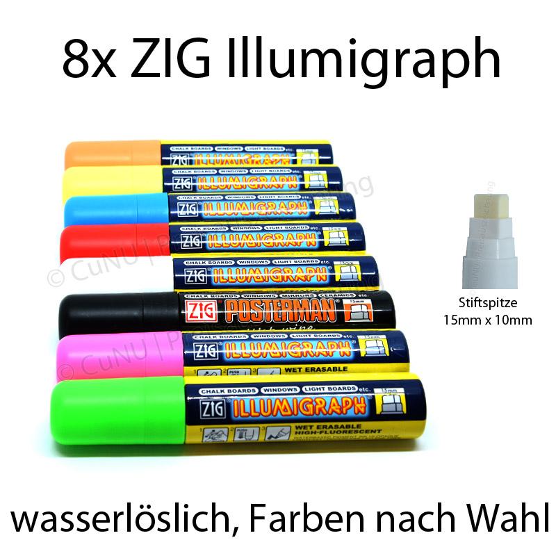 Kreidemarker Kreidestift Illumigraph 5 mm weiß Tafel