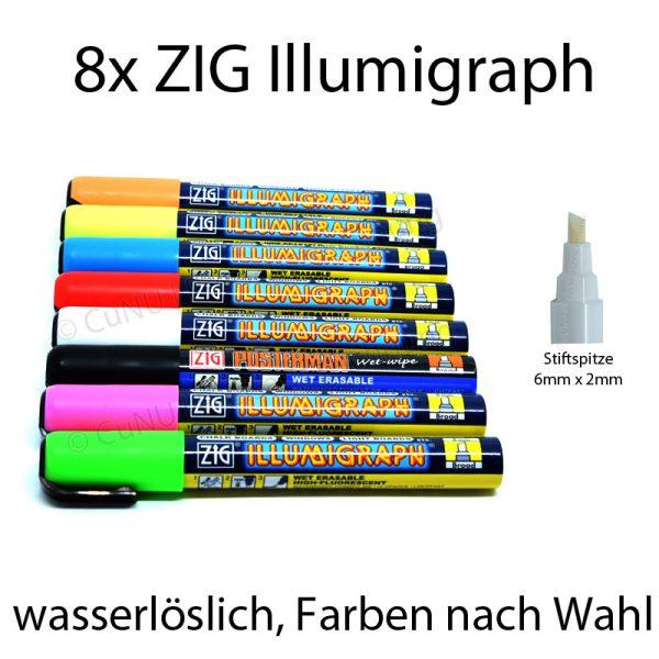 ZIG Illumigraph Kreidschreiber mit 6x2mm Spitze