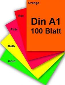 Leuchtpapier DIN A1 Plakat-Papier
