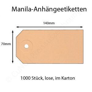 manila anhängeetiketten 140x70mm