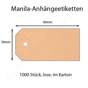 manila anhängeetiketten 60x30mm