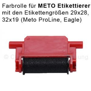 Farbrolle für Meto Auszeichner der Größen 29x28 und 32x19