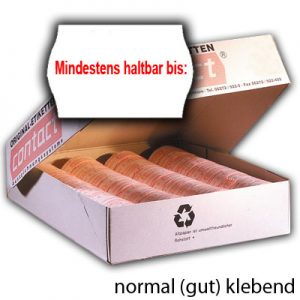 normal gut klebende MHD Etiketten 25x16mm