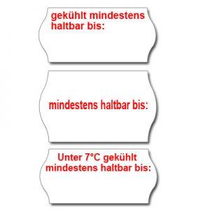 MHD Etiketten für Mindesthaltbarkeitsdatum