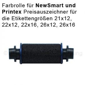 Printex Farbrolle für New Smart und Printex Z Preisauszeichner der Etikettengrößen 22x12, 22x16, 26x12, 26x16