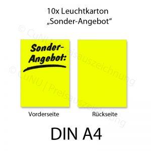Plakatkarton leuchtgelb DINA4 Sonderangebot