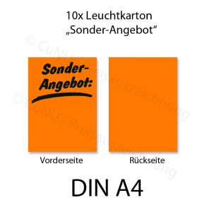 Plakatkarton leuchtend orange DINA4 Sonderangebot