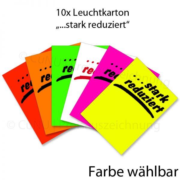 Plakat Karton Leuchtkarton DIN A4 stark reduziert