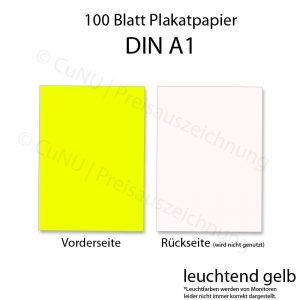 gelbes Plakatpapier, leuchtend gelbes Papier für Plakate