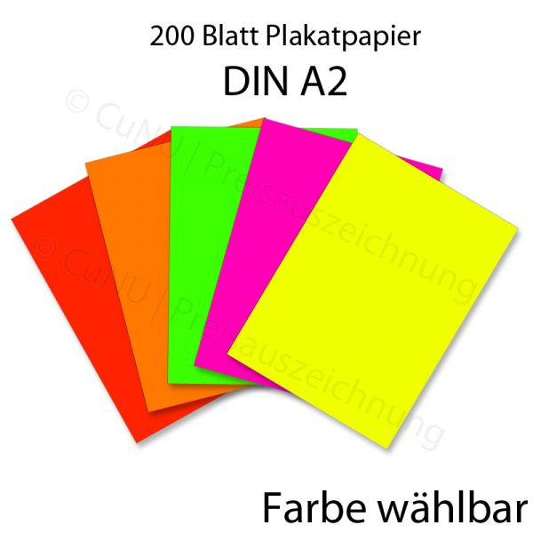 farbiges DIN A2 Plakat-Papier DINA2