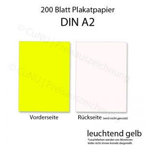 leuchtend gelbes DIN A2 Plakat-Papier DINA2